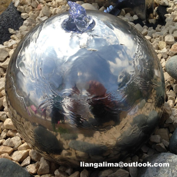 stainless steel sphere fountain