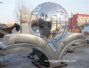 Stainless Steel world globe