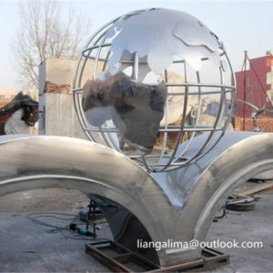 Stainless Steel world globe