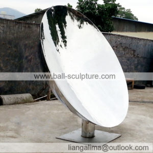 outdoor large mirror disk
