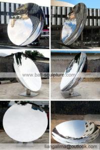 outdoor mirror concave sculpture